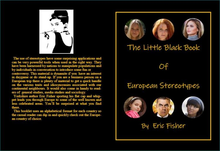 Back and Front Cover of 'The Little Black Book of European Stereotypes'